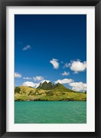 Framed Lion Mountains in South Mauritius, Africa