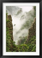 Framed Mist on peaks and valleys, Grand Canyon, Mt. Huang Shan