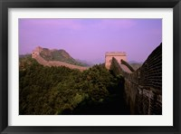 Framed Morning View of The Great Wall of China, Beijing, China