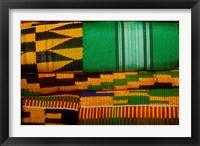Framed Kente Cloth, Artist Alliance Gallery, Accra, Ghana