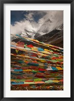 Framed Prayer Flags, Milk Lake, Yading Natural area, China