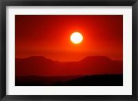 Framed Namibia, Damaraland, Kalahari Desert, Table Mountains