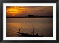 Framed Pirogue On The Bani River, Mopti, Mali, West Africa