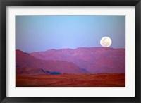 Framed Namibia, Sossusvlei, NamibRand Nature Reserve, Full moon