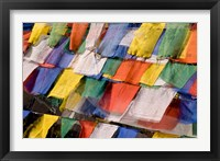 Framed Prayer Flags at Dochu La, Bhutan