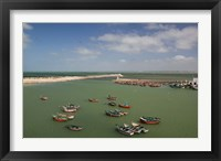 Framed MOROCCO, JADIDA: Portuguese Fortress, Fishing Boats