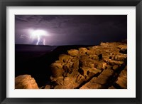 Framed Namibia, Fish River Canyon NP, Storm, Lightning strikes