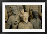 Framed Ranks and uniroms of terra cotta warrior figures