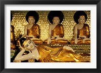 Framed Reclining Buddha, Shwedagon Pagoda, Yangon, Myanmar
