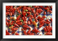 Framed Red Peppers Drying in the Sun, Tunisia