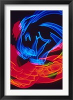 Framed Red and Blue Neon Lighting with Nightzoom