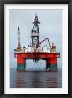 Framed Oil Rig, Walvis Bay, Namibia, Africa.