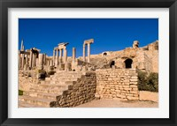 Framed Roman Theater, Ancient Architecture, Dougga, Tunisia