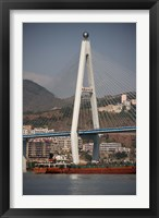 Framed River port, Badong, Suspension Bridge over Yangzi