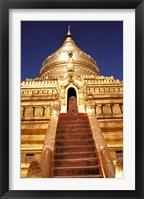 Framed Shwezigon Paya, Bagan, Myanmar