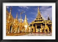 Framed Shwedagon Pagoda, Yangon, Myanmar
