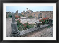 Framed Ruins of Ancient Roman Mansion called House of Columns, Morocco