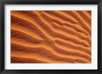 Framed Sand Dunes Furrowed by Winds, Morocco
