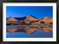 Framed Sossusvlei Dunes Oasis, Namib National Park, Namibia