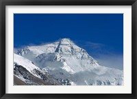 Framed Snowy Summit of Mt. Everest, Tibet, China