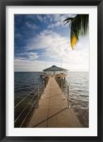 Framed Seychelles, Anse Bois de Rose, Coco de Mer Hotel pier