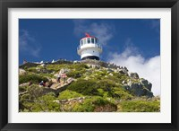 Framed South Africa, Cape Town, Lighthouse on Cape Peninsula