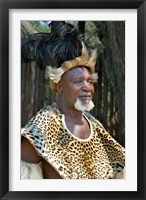 Framed South Africa, KwaZulu Natal, Zulu tribe chief