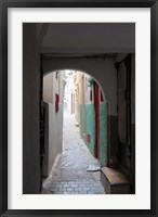Framed Street in the Kasbah, Tangier, Morocco