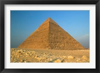 Framed Pyramids of Giza, the Nile, Cairo, Egypt