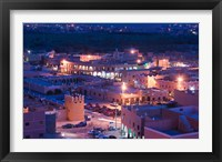 Framed Night View of Town, Tinerhir, Morocco