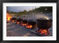 Framed Traditional Beach Dinner, Jeffrey's Bay, South Africa