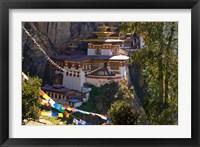Framed Taksang Monastery near Paro, Bhutan