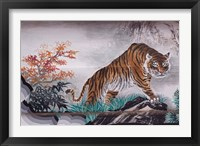 Framed Tiger Painting on Outdoor Corridors, Zhongshan Park, Beijing, China