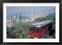 Framed Peak Tram, Victoria Peak, Hong Kong, China