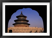 Framed Temple of Heaven, Beijing, China