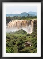 Framed Tis Isat, waterfall, Blue Nile, Ethiopia