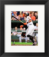 Framed Adam Jones 2014 baseball