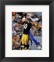 Framed Ryan Shazier Catching Football