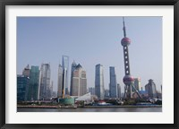 Framed View from The Bund of the modern Pudong area, Shanghai, China