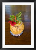 Framed Tropical cocktail, Fregate Island, Seychelles, Africa