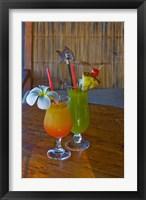 Framed Tropical cocktails, Fregate Resort island, Seychelles