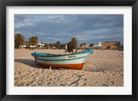 Framed Tunisia, Hammamet, Kasbah Fort, Fishing boats