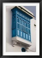 Framed Tunisia, Sidi Bou Said, building detail