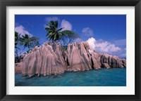 Framed Tropical Shoreline of St Pierre Islet, Seychelles