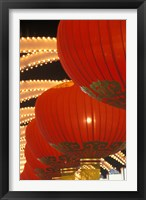 Framed Traditional Red Lanterns, China