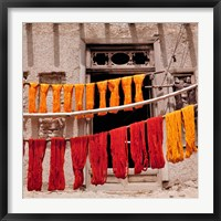 Framed Wool drying textile, Ghazni, Afghanistan