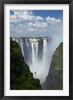 Framed Victoria Falls, Mosi-oa-Tunya, Zimbabwe, Africa