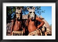 Framed Zulu Zebra Masked Dancers, South Africa