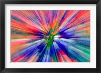Framed Zoom Abstract of Pansy Flowers
