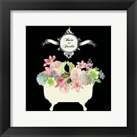 Bain du Jardin I Black Framed Print